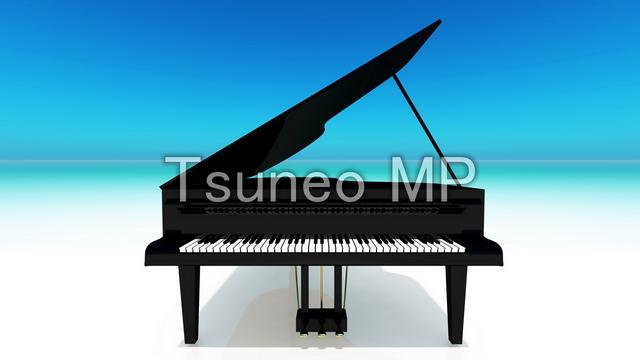 イラストCG ピアノ