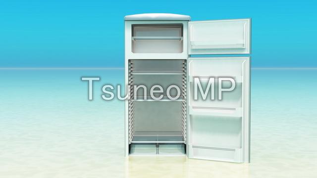 일러스트 CG 냉장고