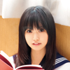 Dark-haired school girl Asakura can only