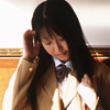 Dark-haired female school students deep-Miki