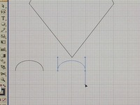 Draw a curve in Illustrator CS2 using the course pencil