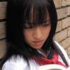 Dark-haired female school students Arisa Kanno (Kanno sub Risa)