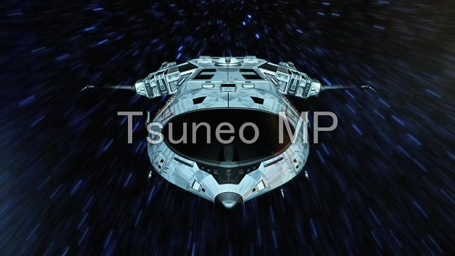 イラストCG 宇宙船