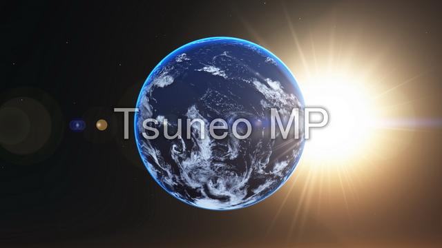 イラストCG 地球