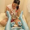 【Tickled】 Tickling nurse is full body tights × tickling procedure 【Haruna Flower】