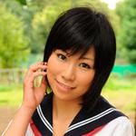 Dark-haired female school students Mei