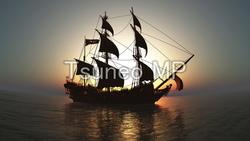 イラストCG 帆船