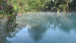 TORAGET hot spring, source of fountain Lake Blue Lake-1 Indonesia-Manado