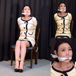 Mature Female Secretary Madoka Miserable Continuous Gags Part 1