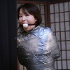 Mummification for Japanese MILF Miki in Leotard and Pantyhose - Part 2
