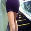 【Black tight mini skirt gal girls close to pre-butt for 10 minutes】 High heels to black tight mini skirt! Beautiful legs to bare feet ★ High heel's pre-prick girl ass!