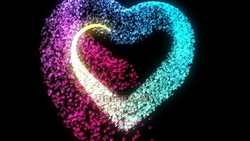 Image CG heart particles